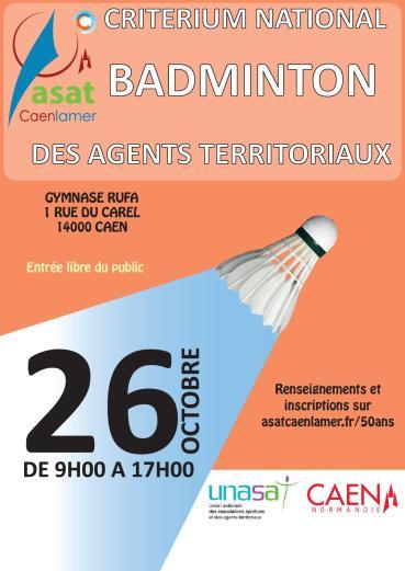50 ans - Tournoi Badminton